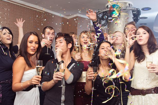 Convidados da festa de Ano Novo