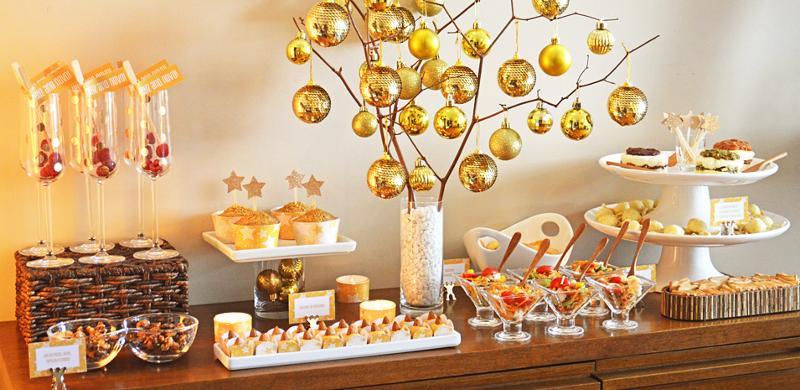 Buffet da festa de Ano Novo