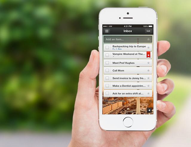 Organização de eventos com o aplicativo para celular Wunderlist
