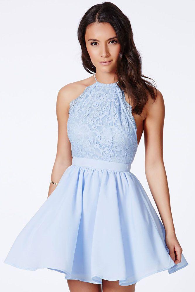 Vestido para casamento civil azul