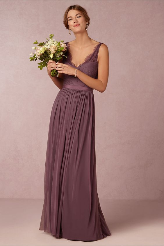 Vestido de noiva roxo