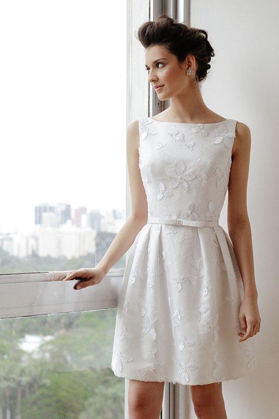 Vestido para o casamento civil curto