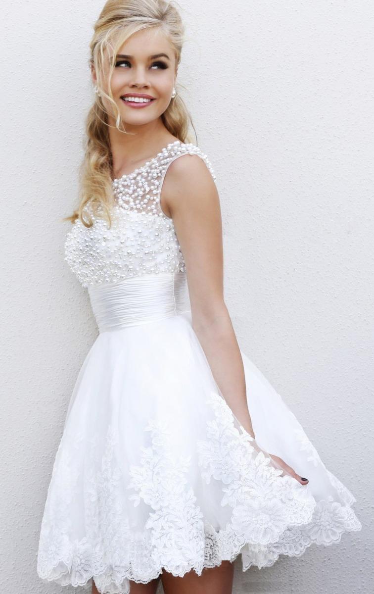 Modelo de vestido para casamento civil curto