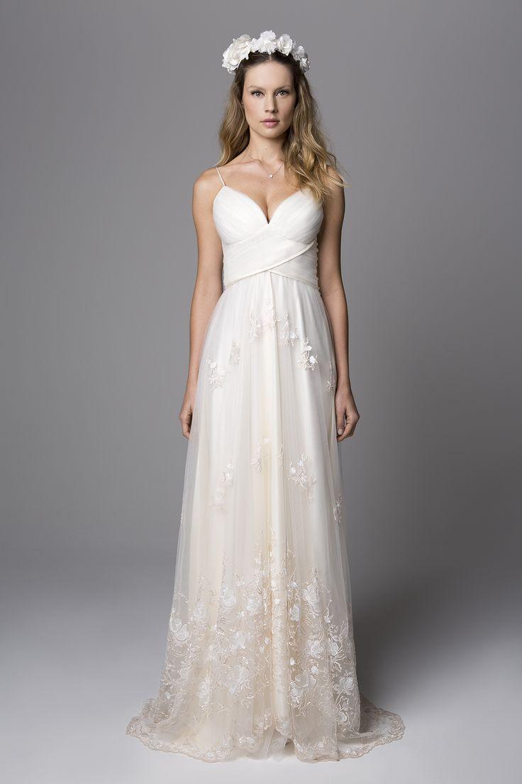 Vestido longo para casamento civil