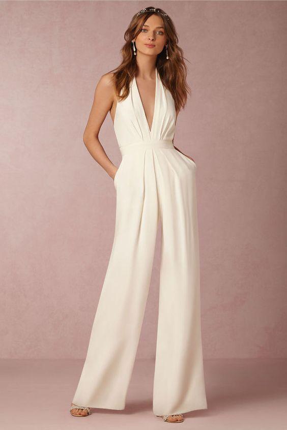 Jumpsuit como vestido de noiva