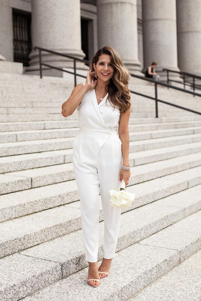 Jumpsuit total white para noivas
