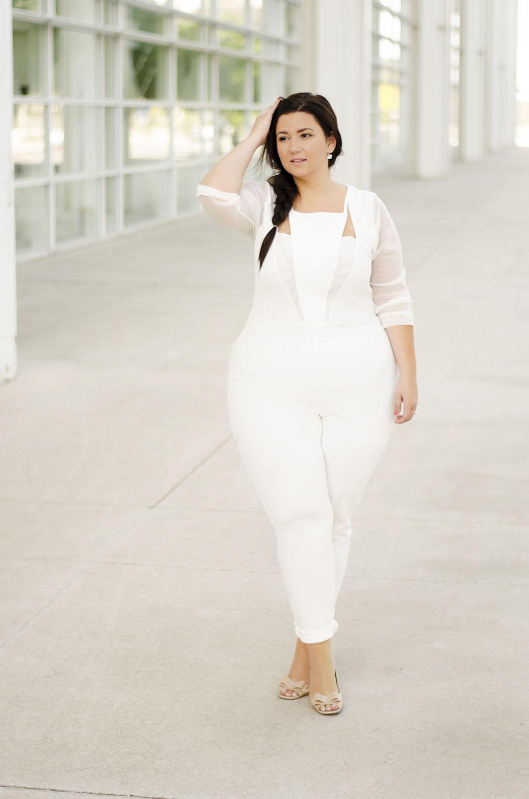 Jumpsuit branco para casamento civil