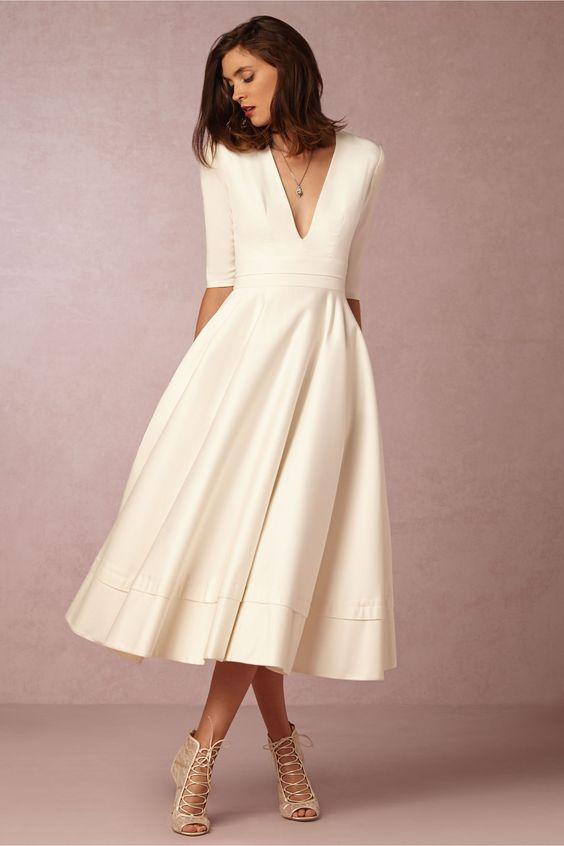 Vestido de noiva formal para casamento civil