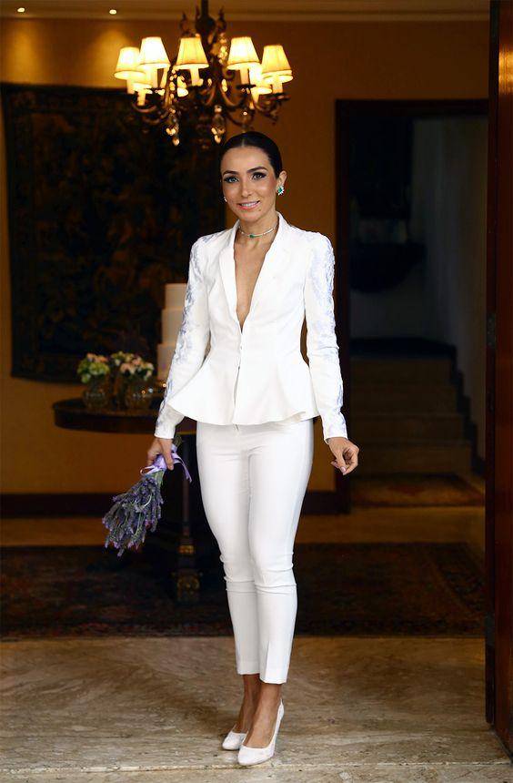 Terninho como vestido de noiva