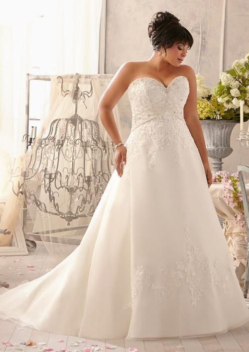 Vestido de noiva plus size tomara-que-caia