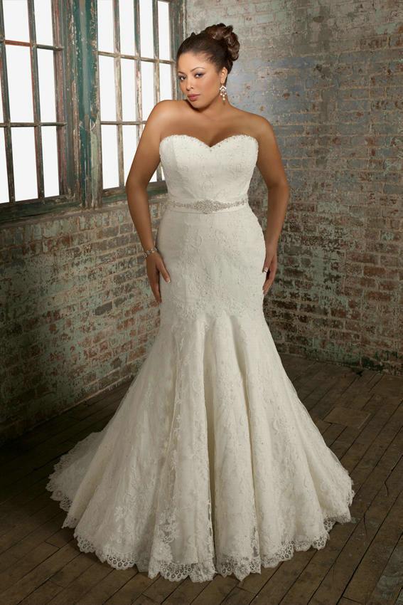 Modelo sereia para vestido de noiva plus size
