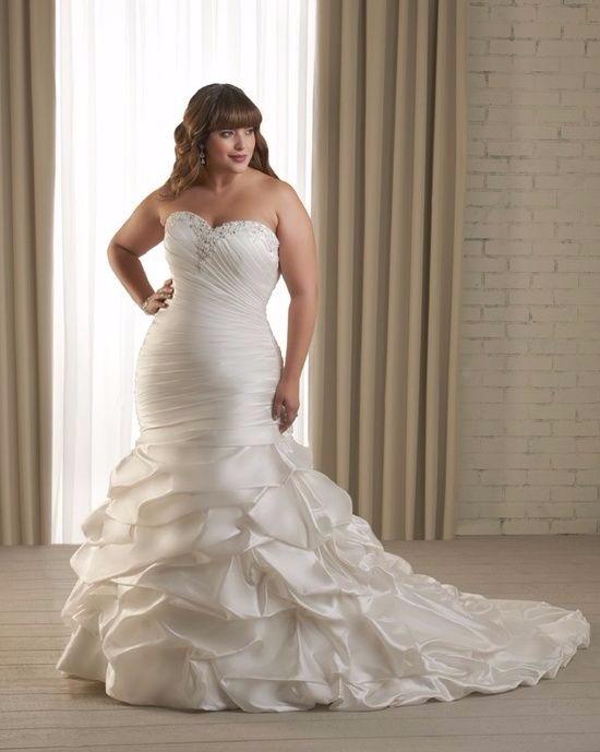 Vestido de noiva plus size modelo sereia