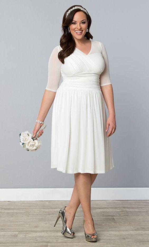 Vestido de noiva gordinha curto