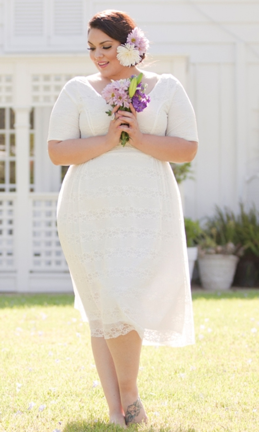 Vestido de noiva plus size curto