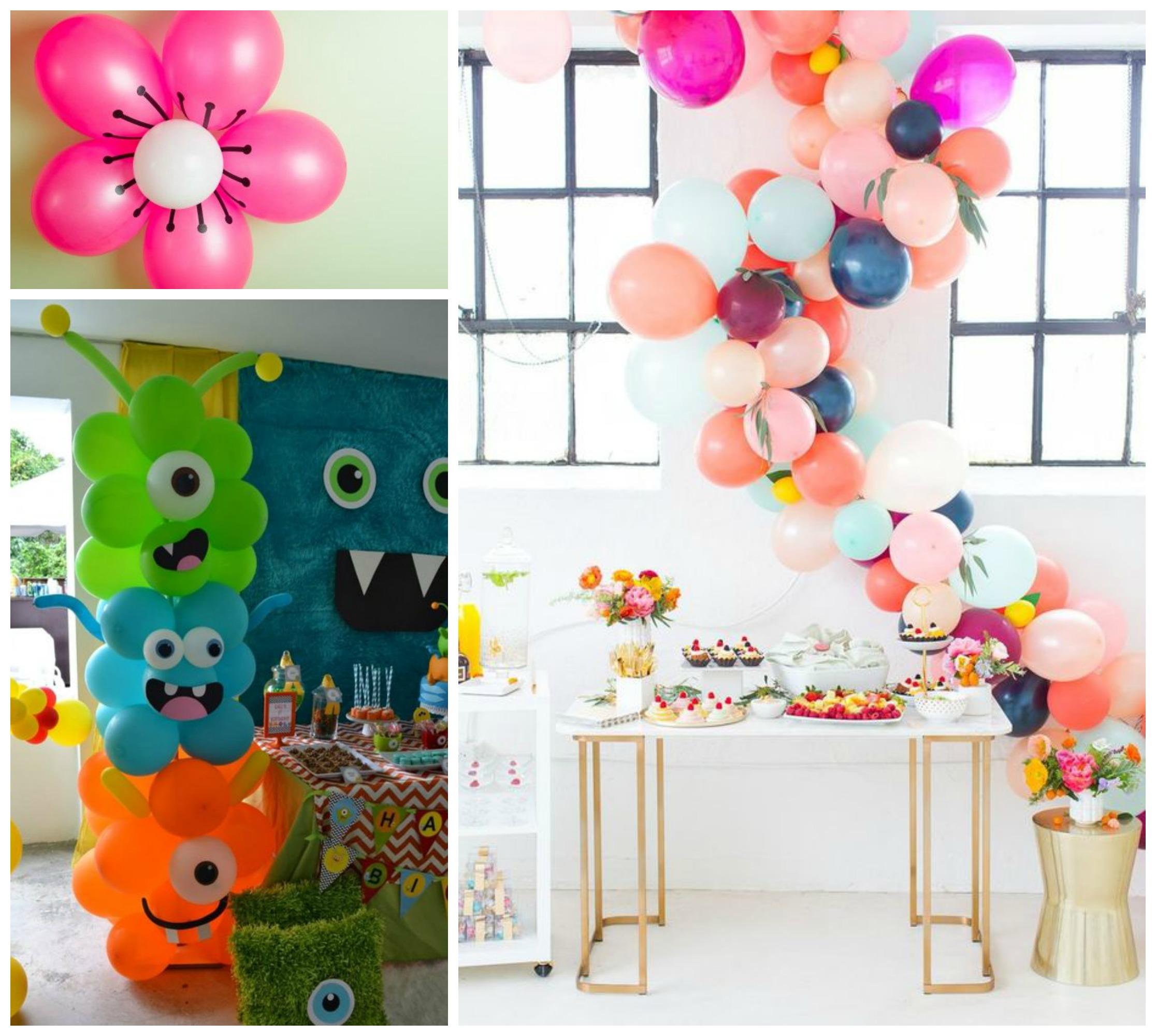 Opções de decoração com balão para festa infantil simples