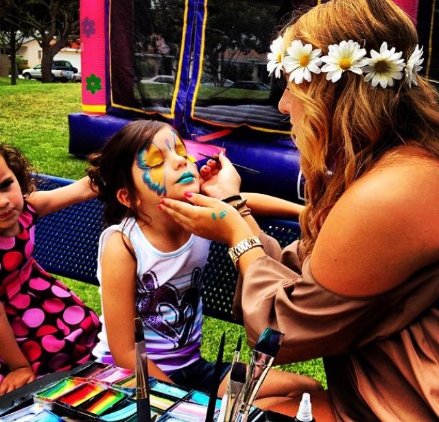 Pintura facial para festas infantis