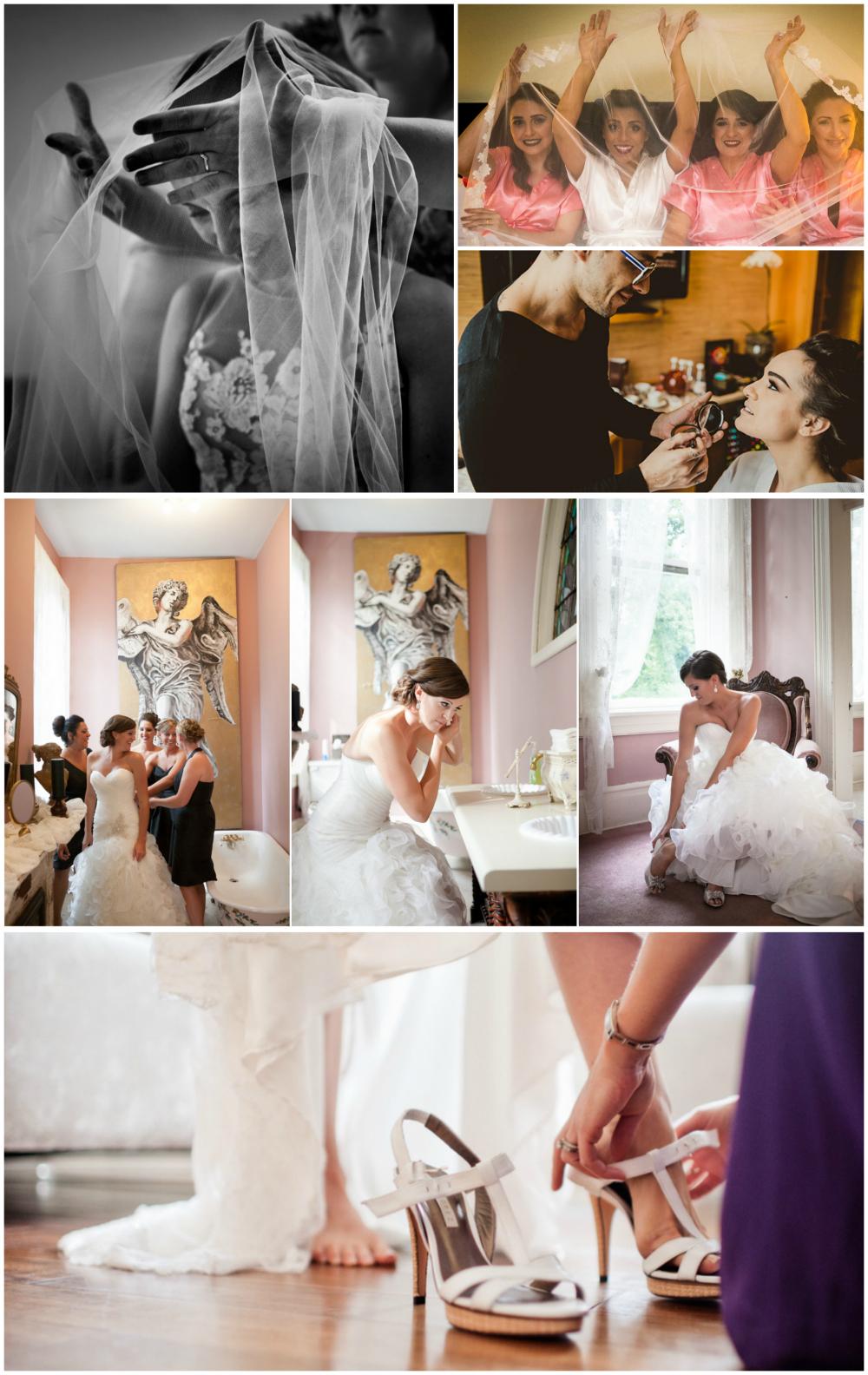 Fotos de noivas de arrumando para o casamento