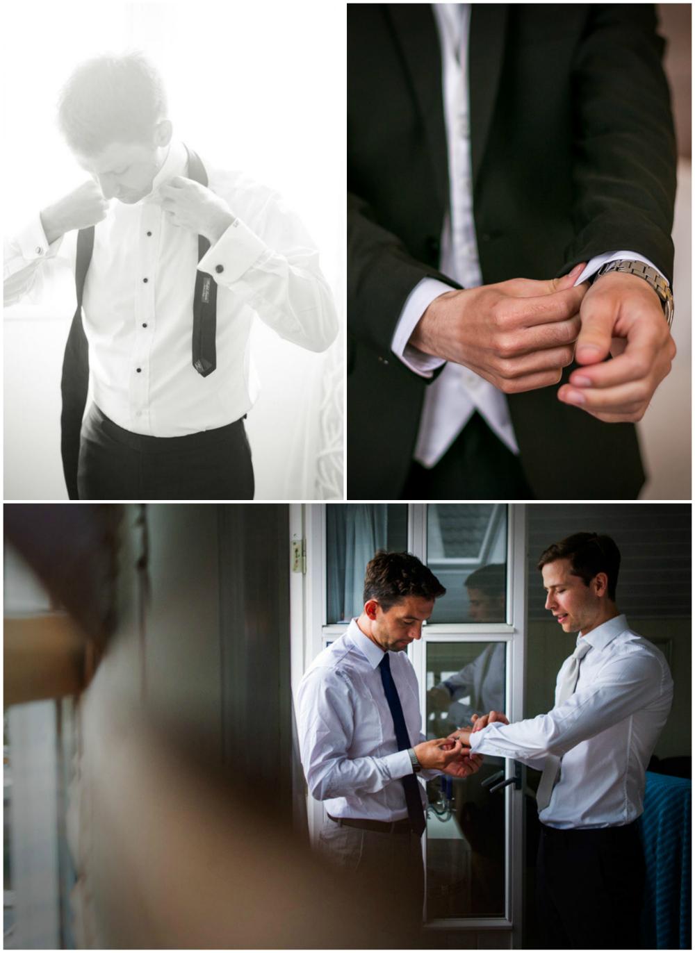 Noivos se preparando para o casamento