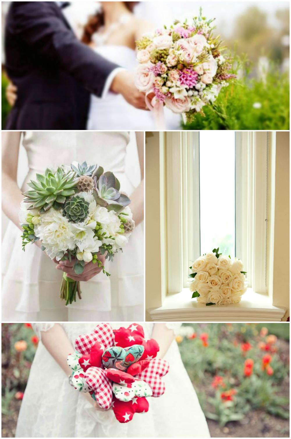 Noivas segurando buquê de casamento