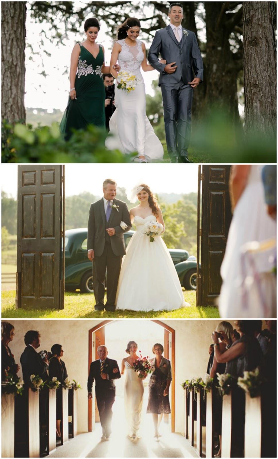 Entradas de noivas para o casamento