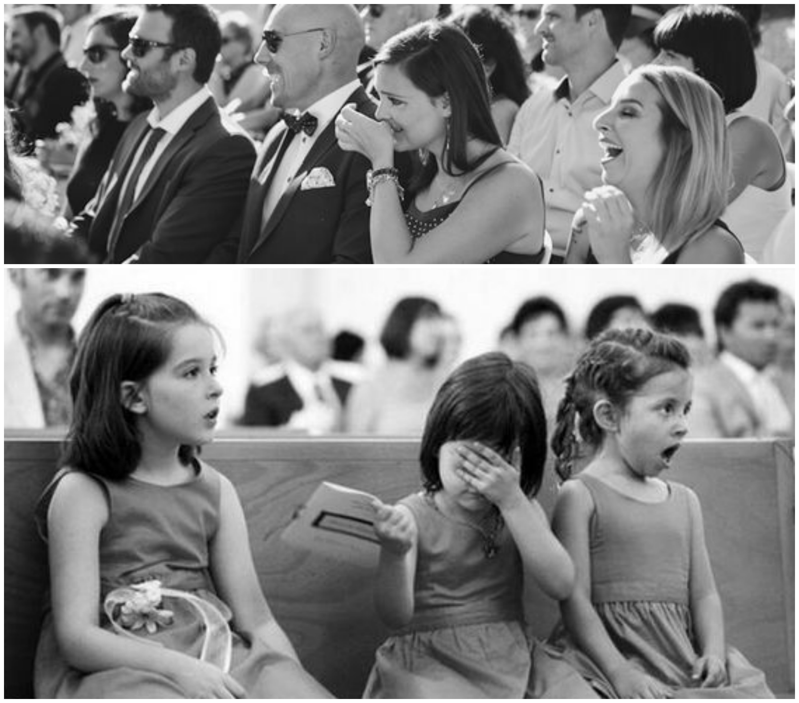 Reação dos convidados no casamento
