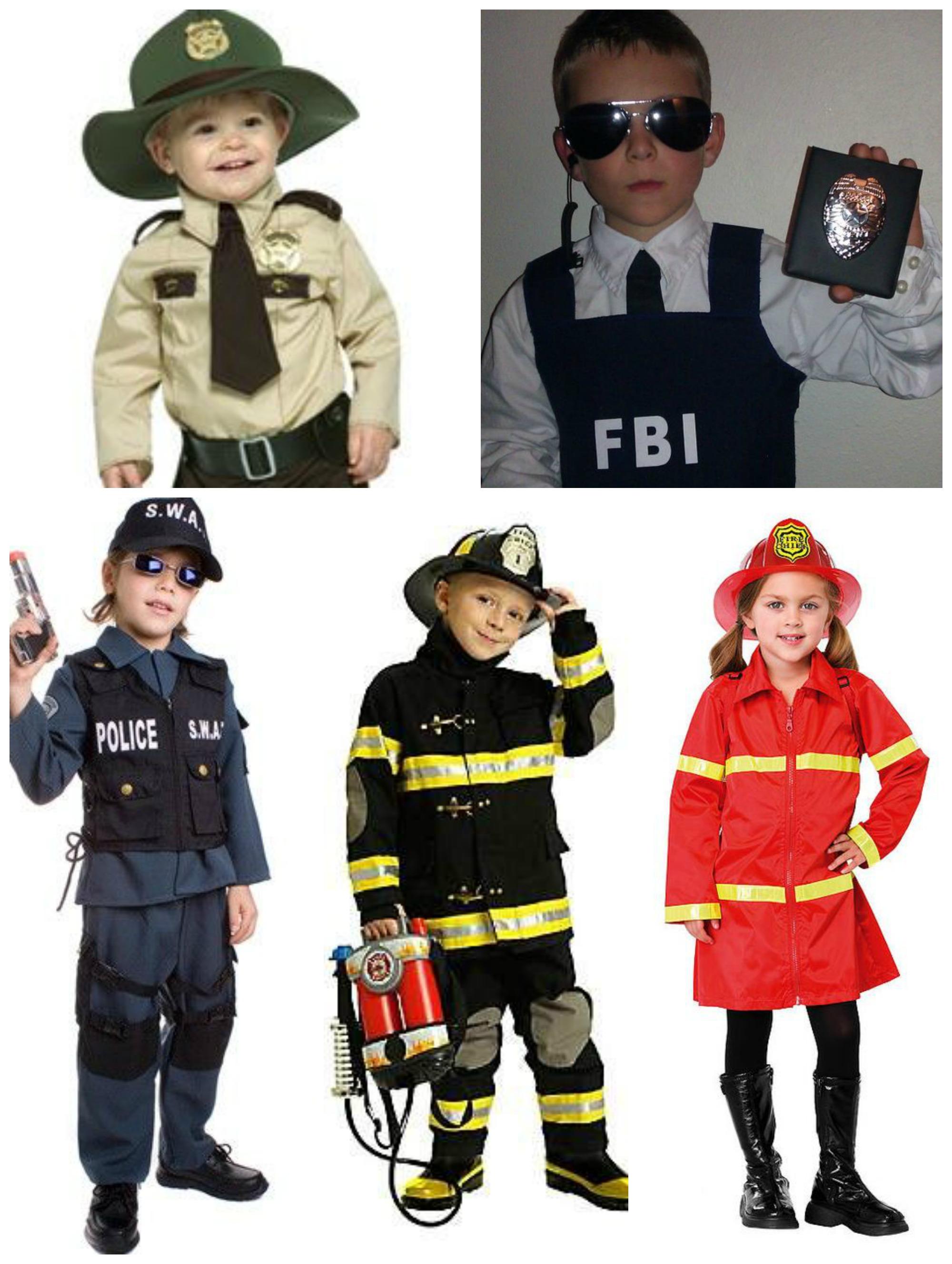 Fantasias infantis de agentes de segurança