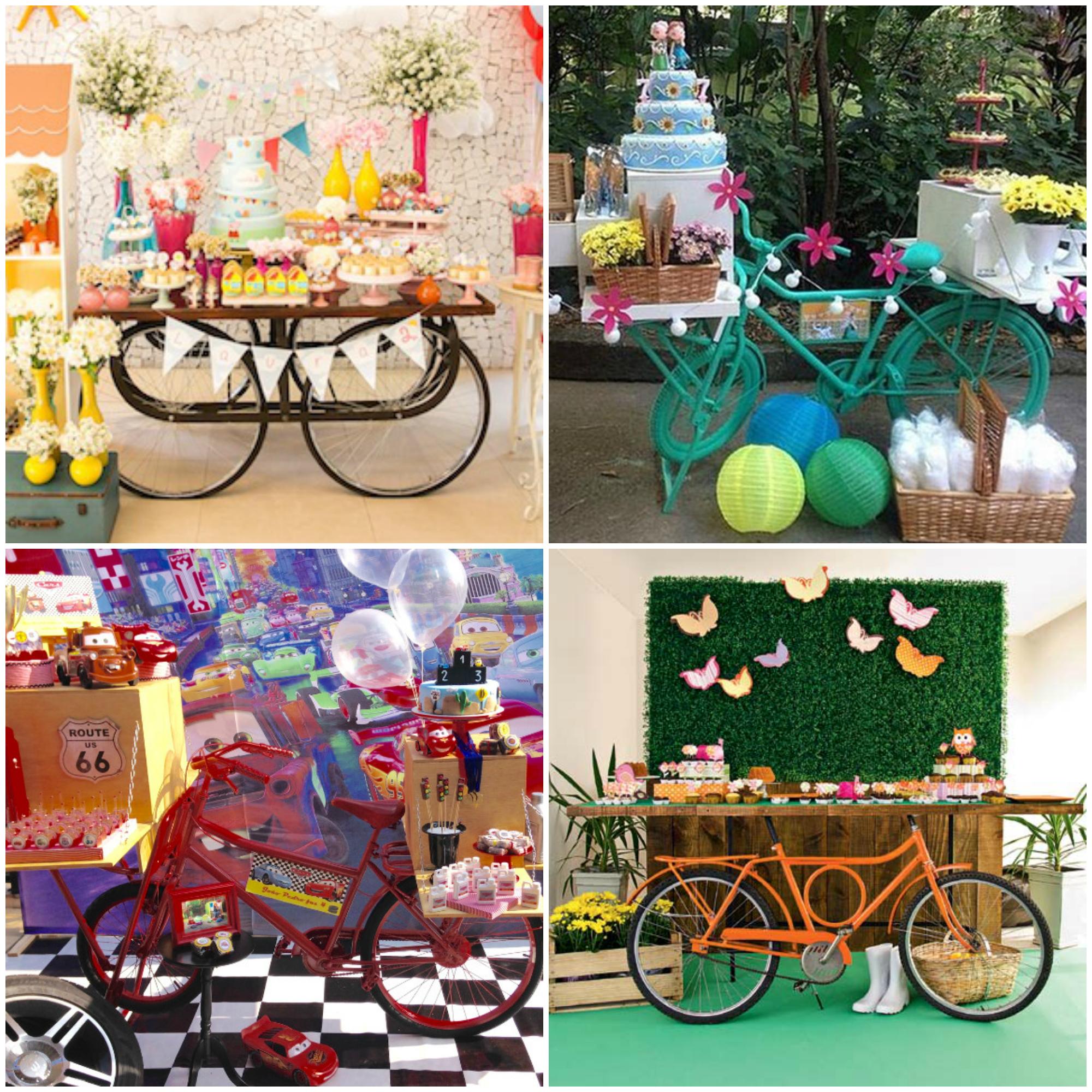Decoração de Festa Infantil com Mesa de Bicicleta