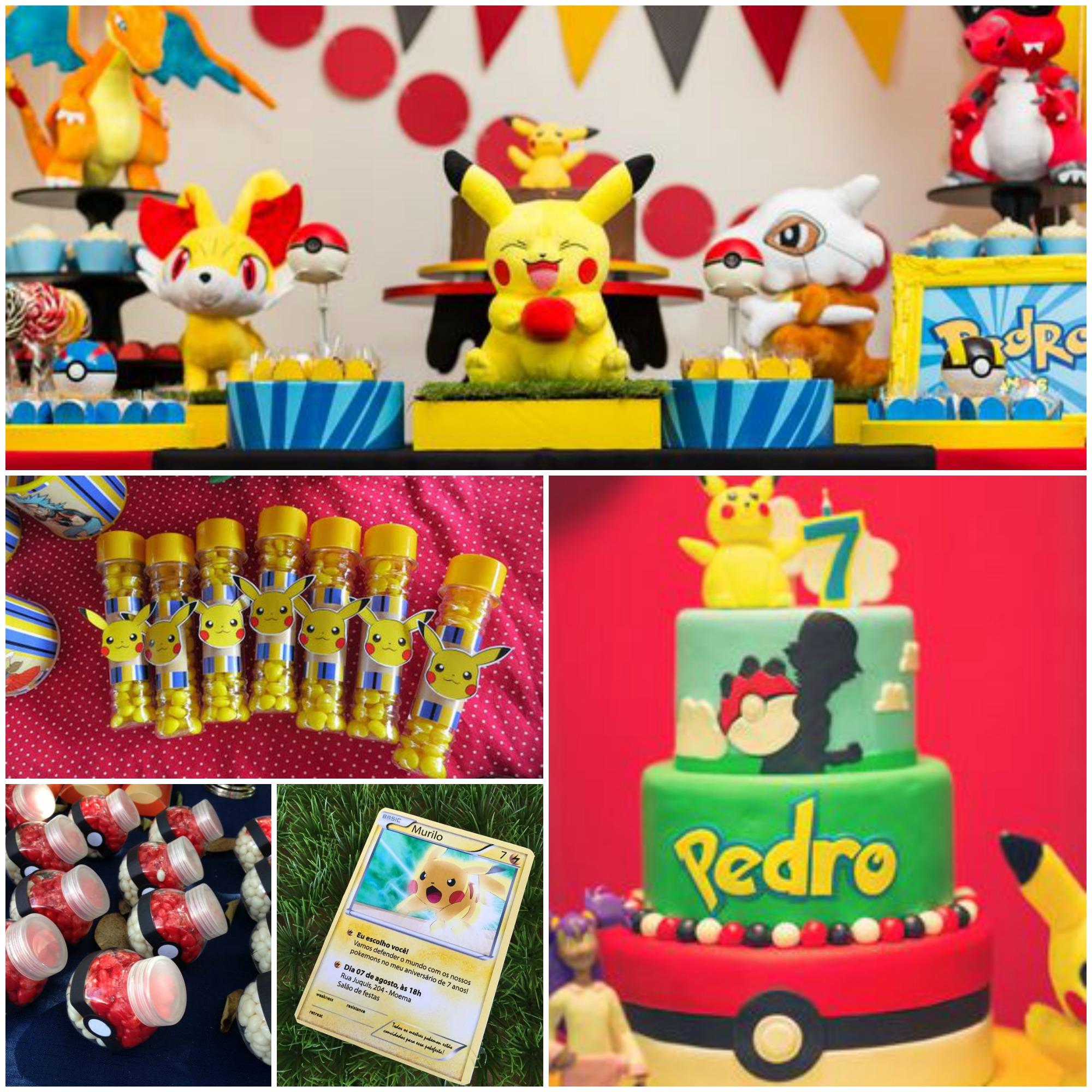 Decoração de Festa Infantil com o Tema Pokémon Go