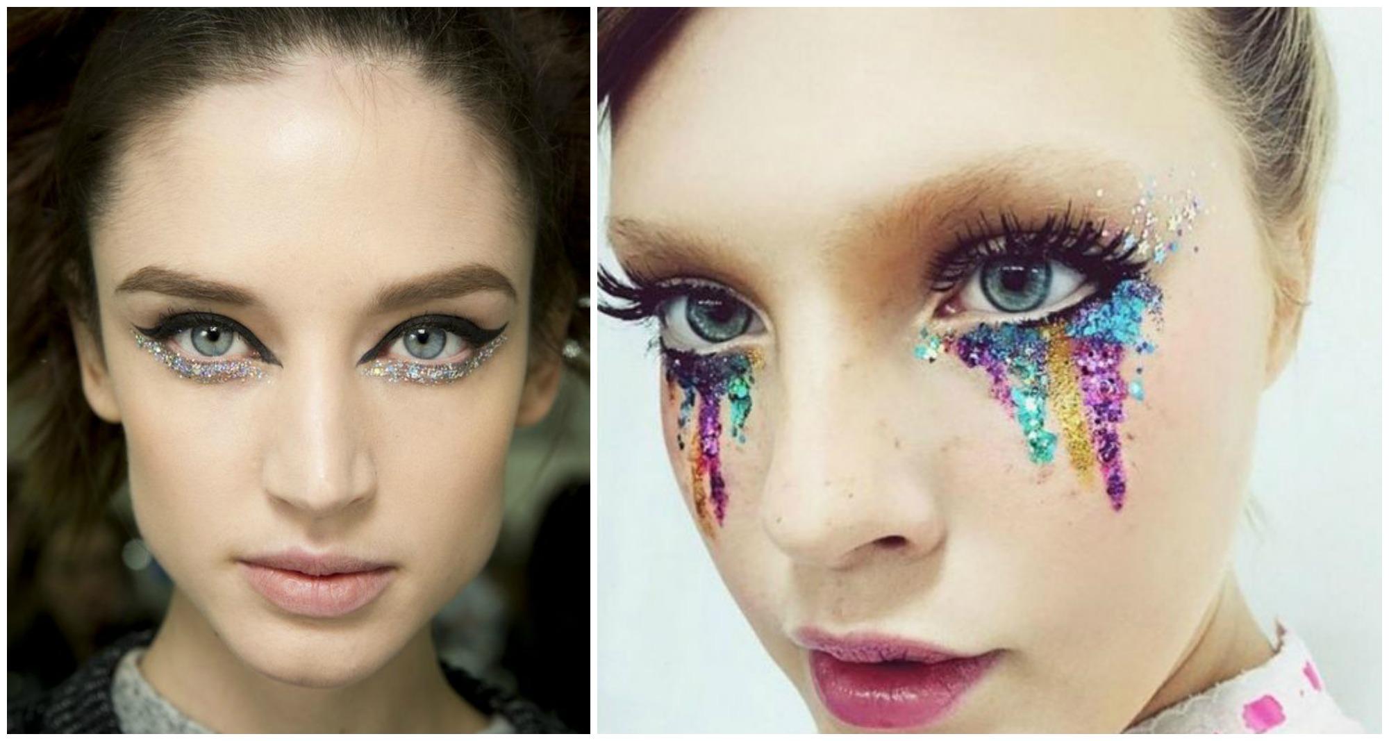 Opções com glitter para maquiagem artística