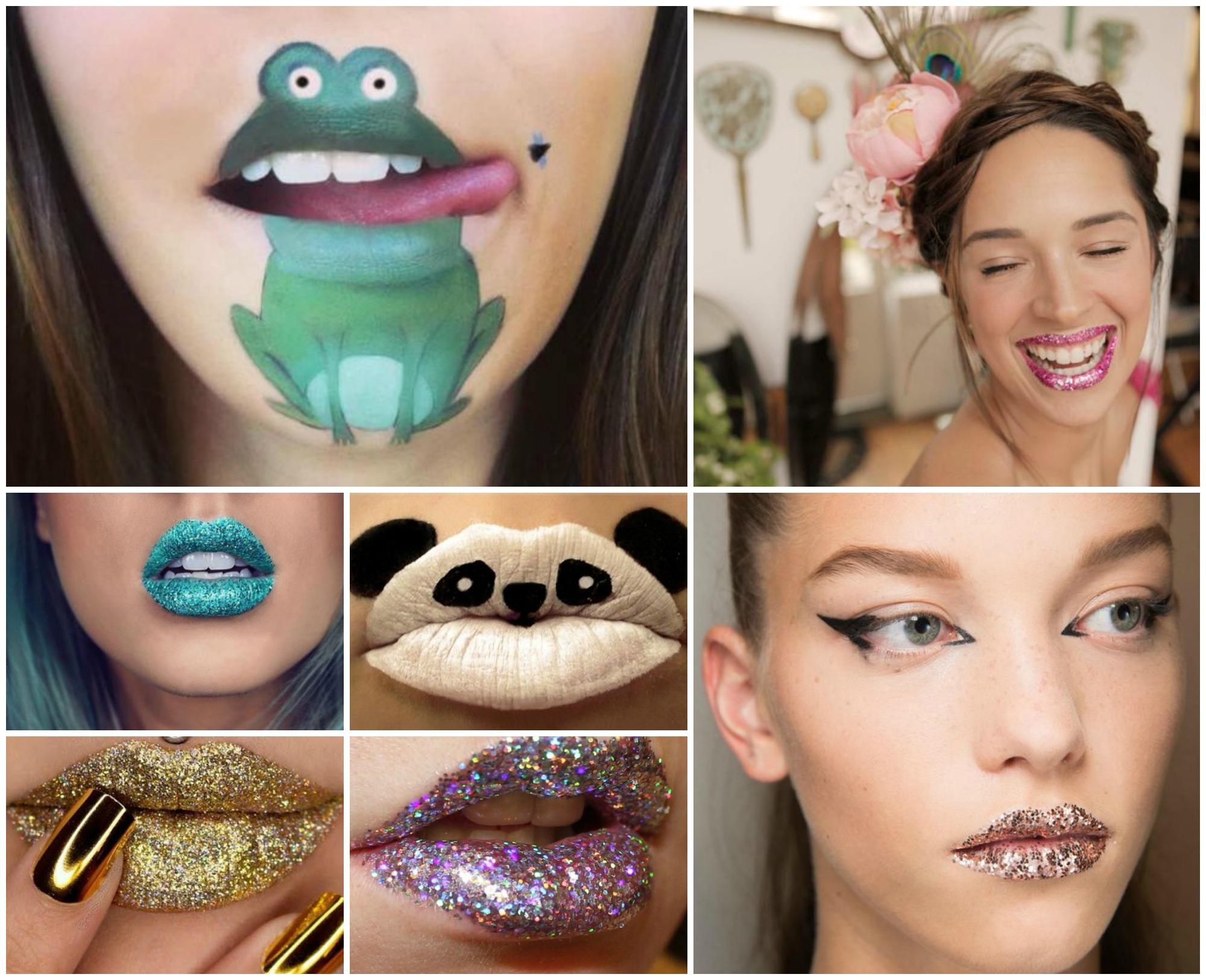 Maquiagem de Carnaval com foco na boca