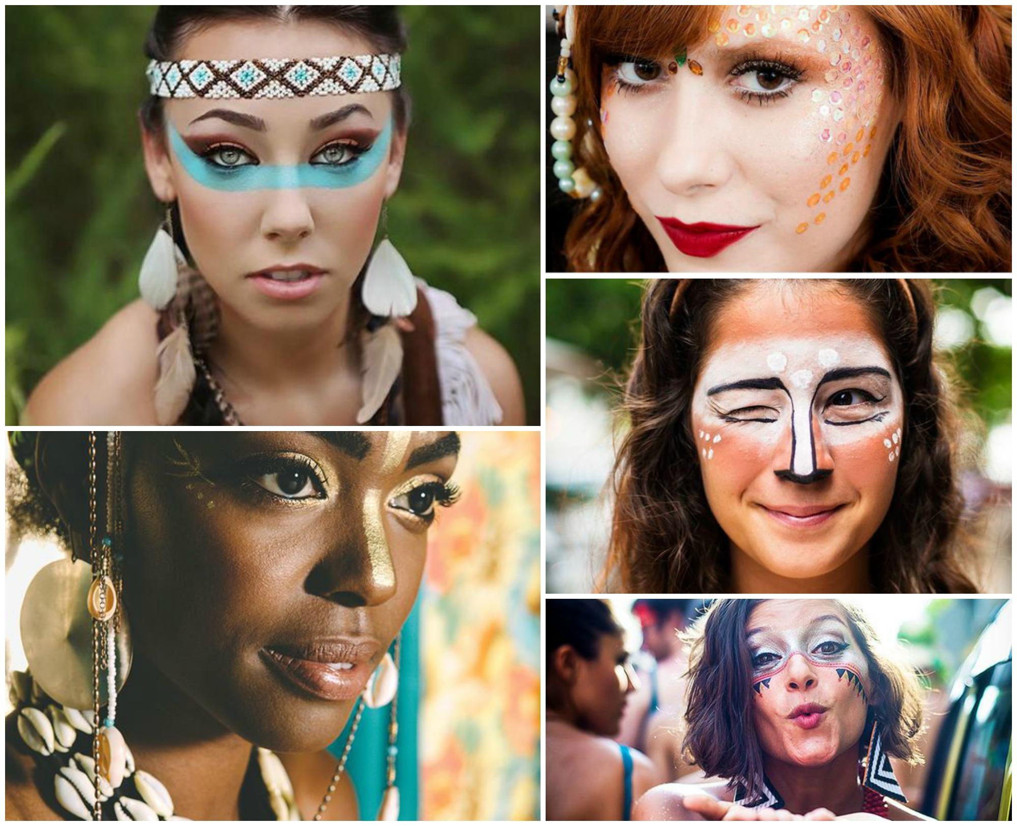 Maquiagem de Carnaval combinando com a fantasia