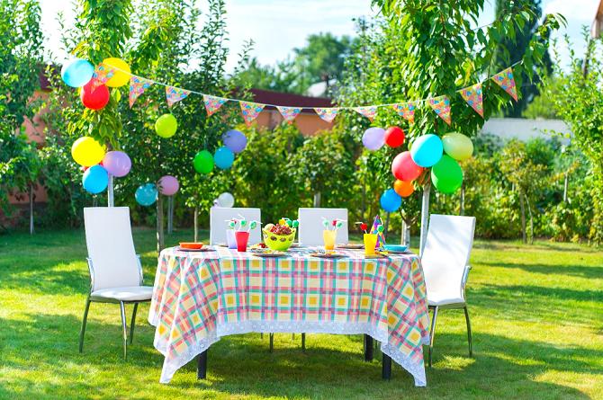 Festa Infantil no quintal de casa