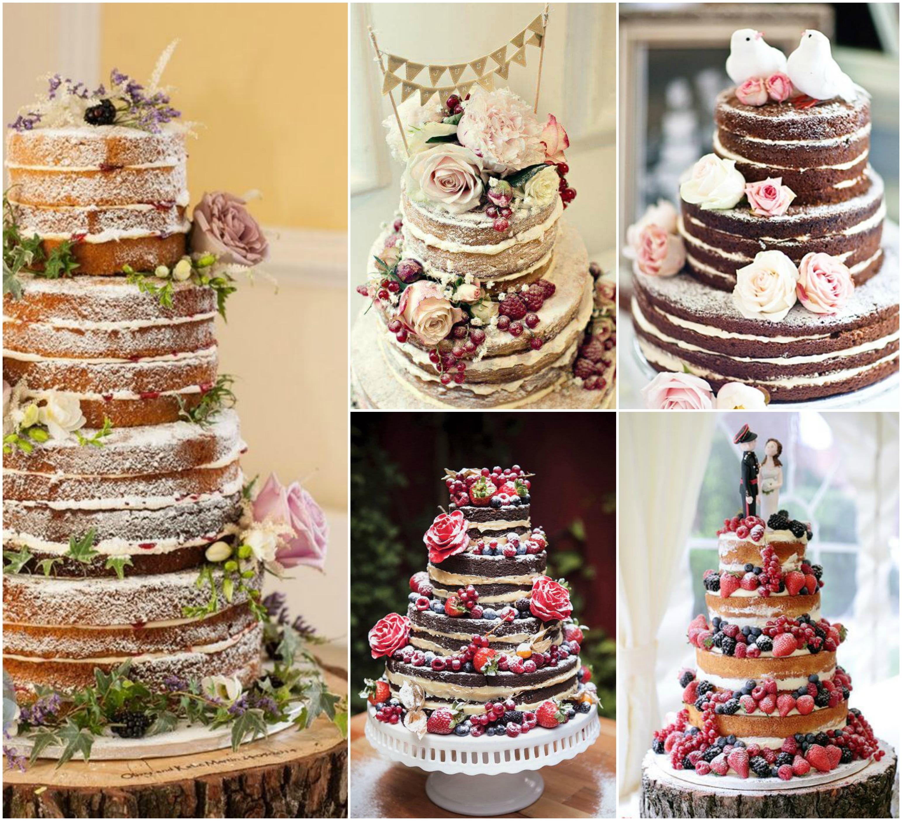 Naked cake para bolo de casamento