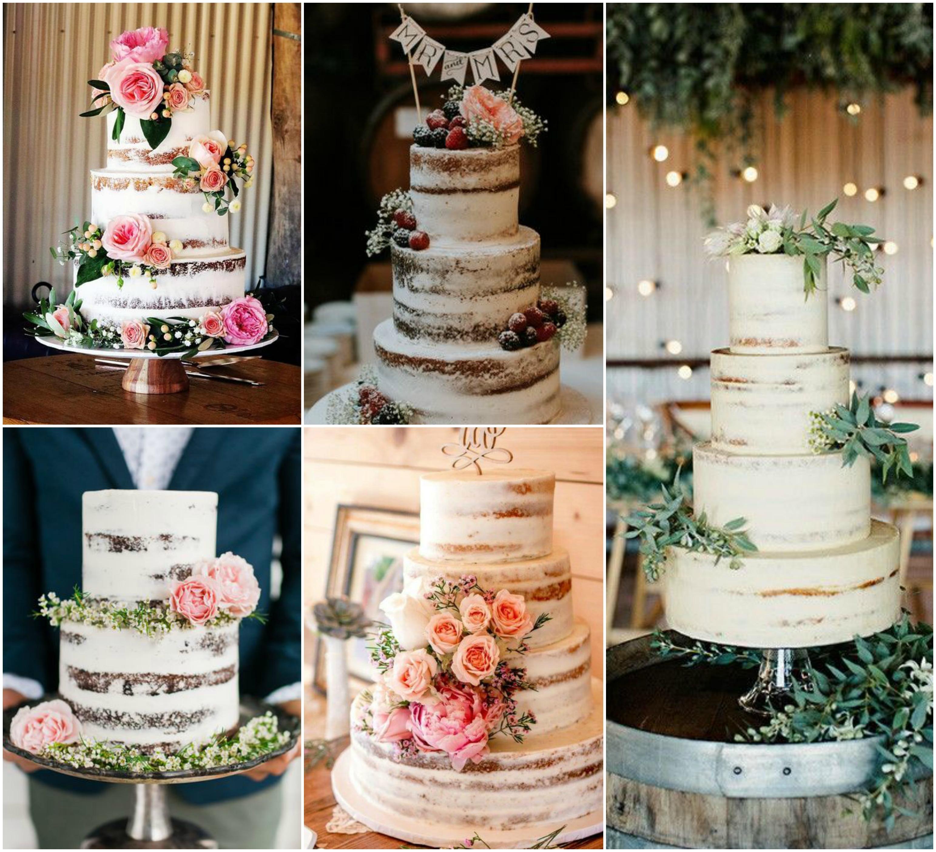 Naked Cake espatulado é tendência para casamento em 2017