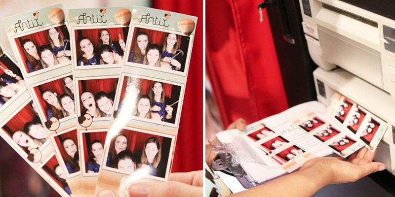 Impressão de fotos da cabine fotográfica