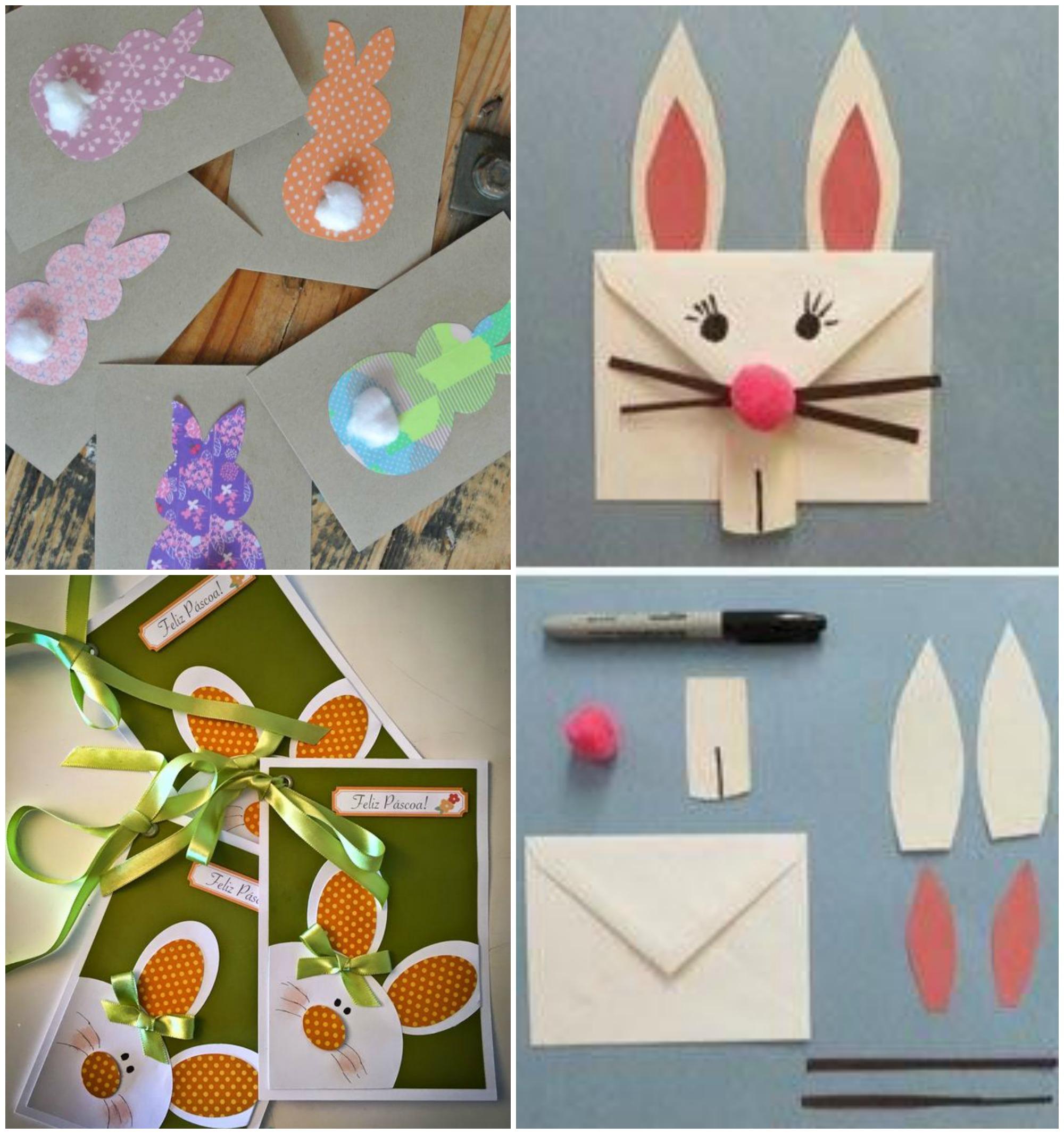 Cartão de Páscoa para crianças