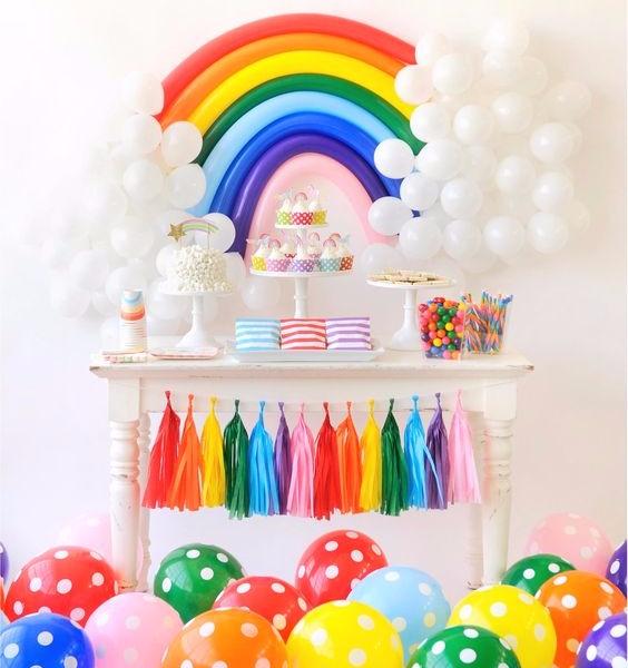 Tema de festa infantil arco-íris