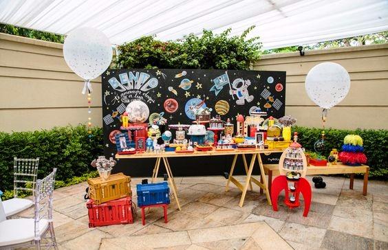 Tema de festa infantil astronauta