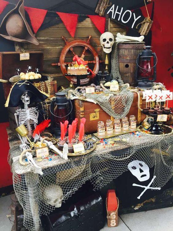 Festa infantil com o tema piratas