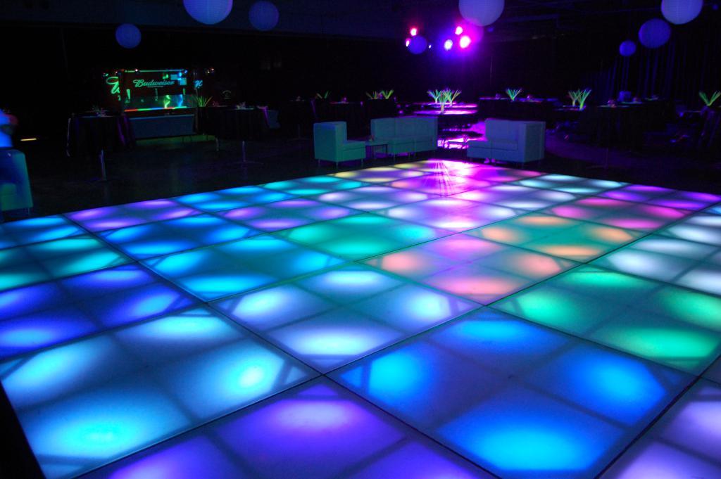 Pista de LED para festa de formatura