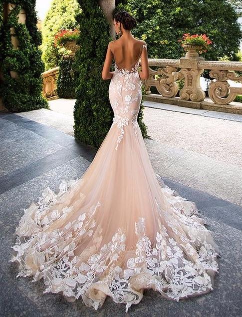 Vestido de noiva sereia de costas