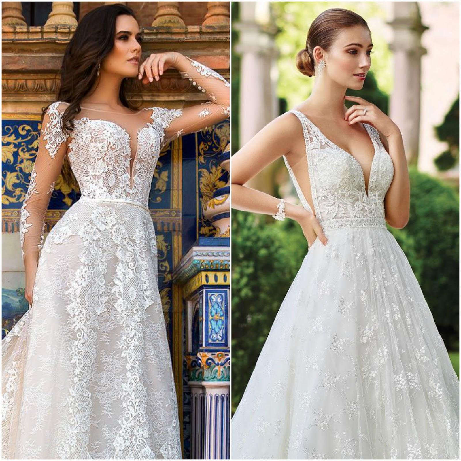 Vestidos de noiva com decote ilusão
