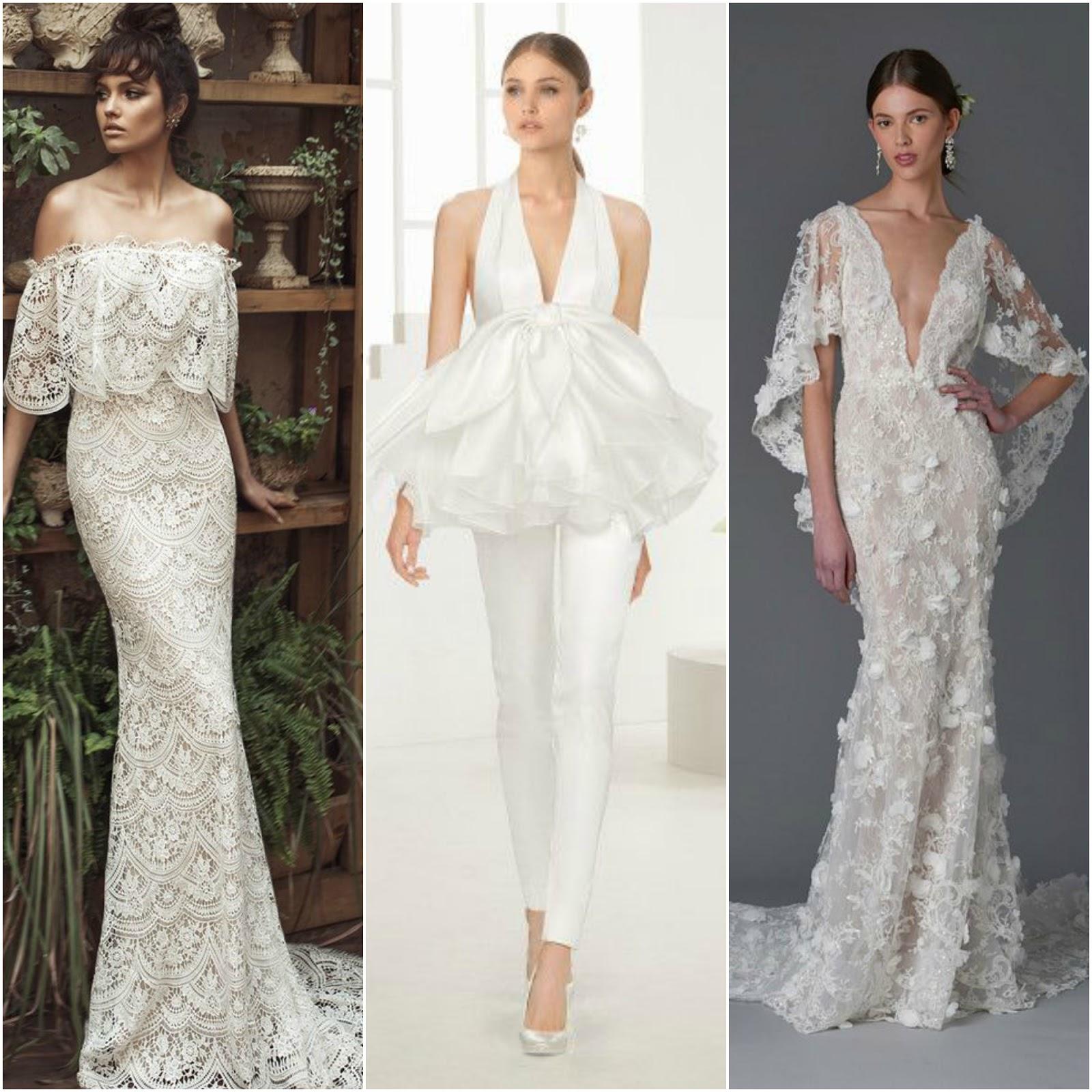 Vestidos de noiva com volumes diferentes