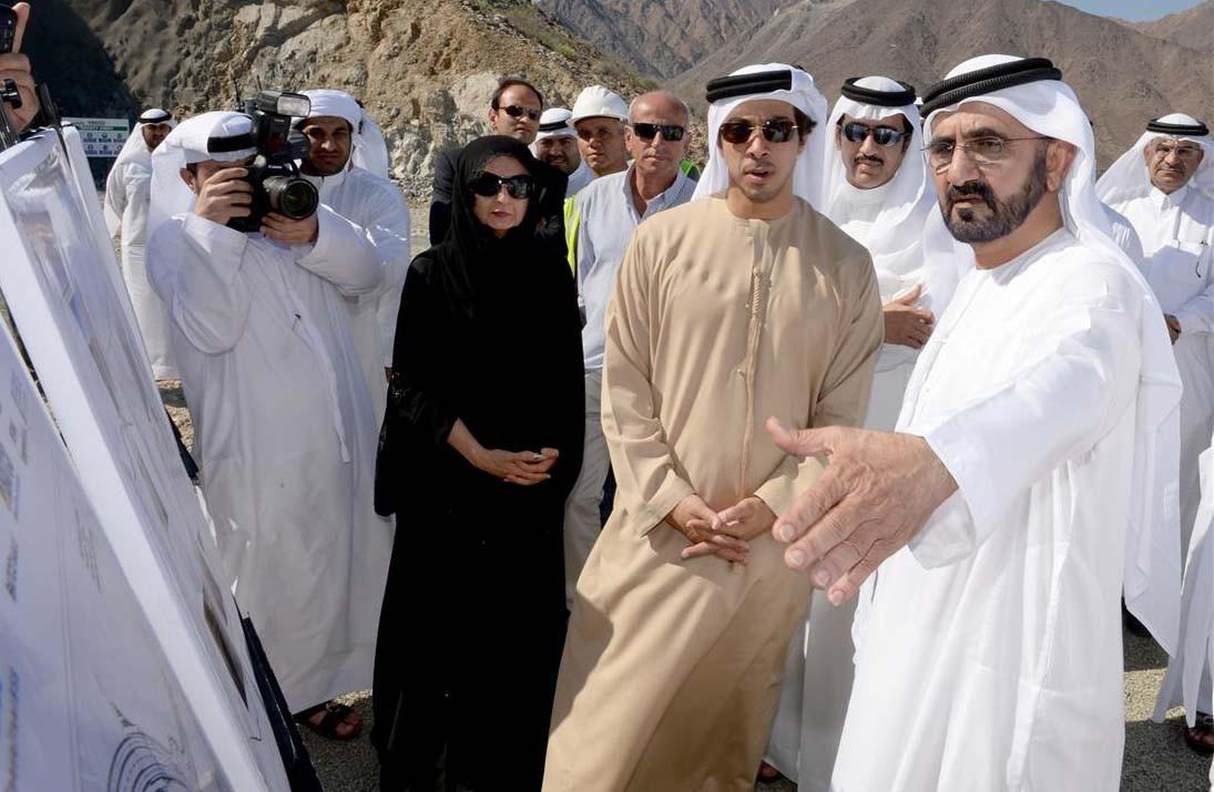 Sheik Mohammed bin Zayed Al Nahyan e a Princesa Salama