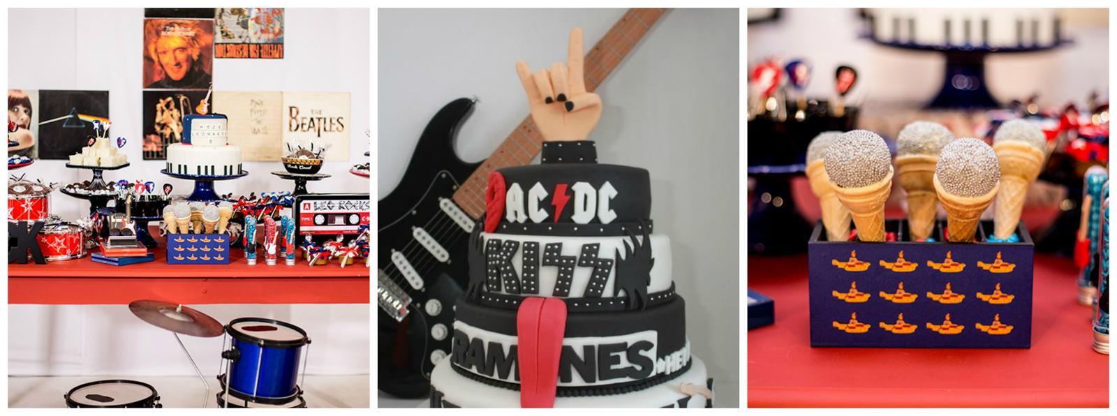Festa de aniversário adulto com tema de Banda
