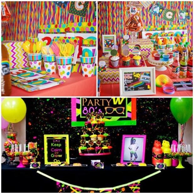 Temas de festas incríveis: anos 1980
