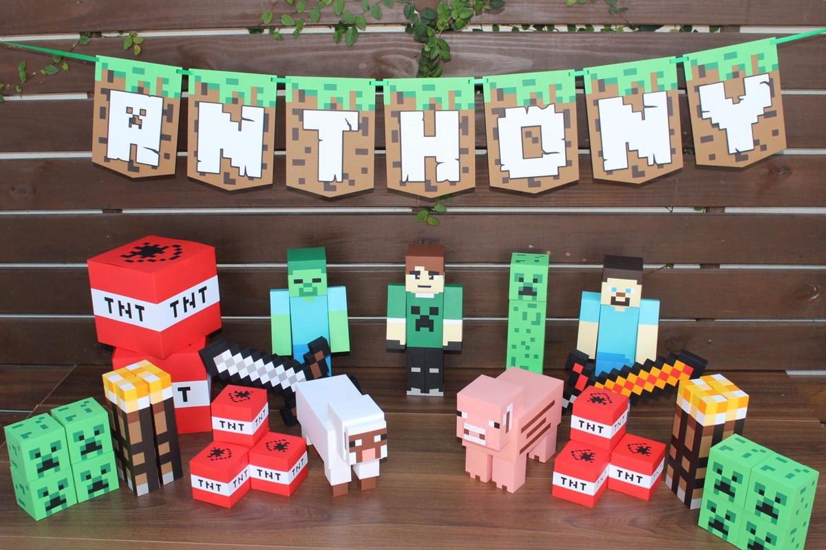 Temas de festas incríveis: Minecraft