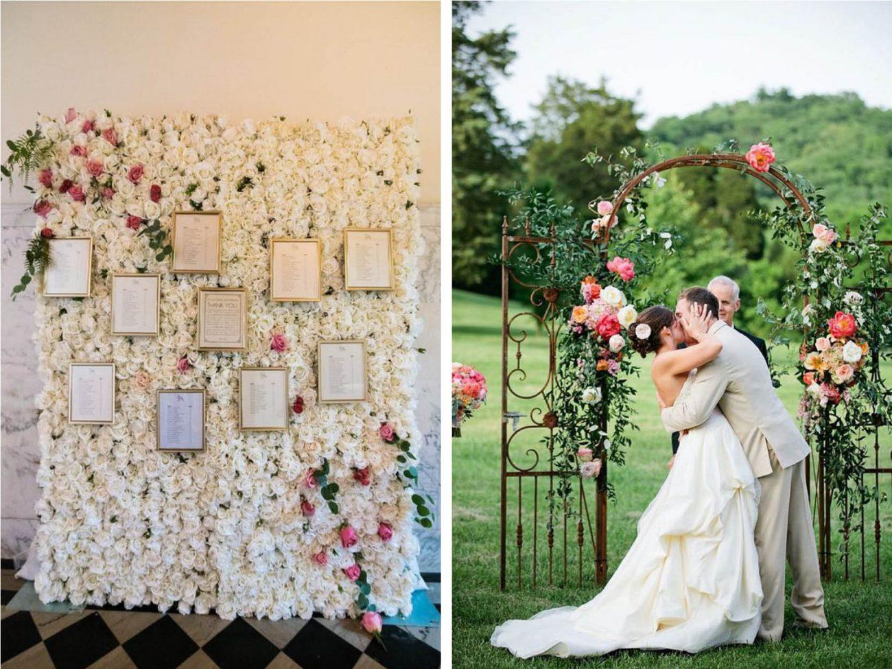 6 dicas de backdrops de casamento incríveis