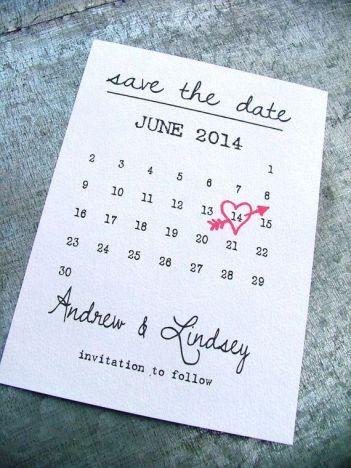 Calendário Save the Date