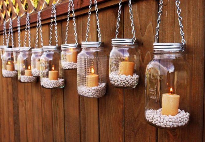 Decoração cultural com velas